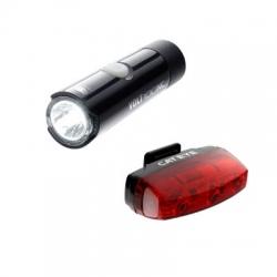 Cateye Volt 100 XC / Rapid Micro voor- en achterlicht (set) – Fietslampen (setjes)