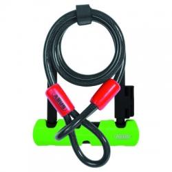 Abus Ultra 410 minibeugelslot (140 mm) met kabel – Beugelsloten